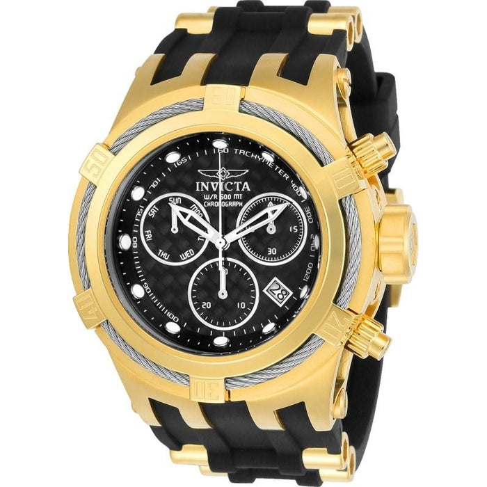 Invicta Men's 22447 Bolt Black and Gold-Tone Polyurethane and Stainless Steel Watch