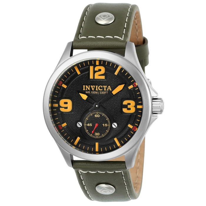 Invicta Men's 22529 Aviator Green Leather Watch