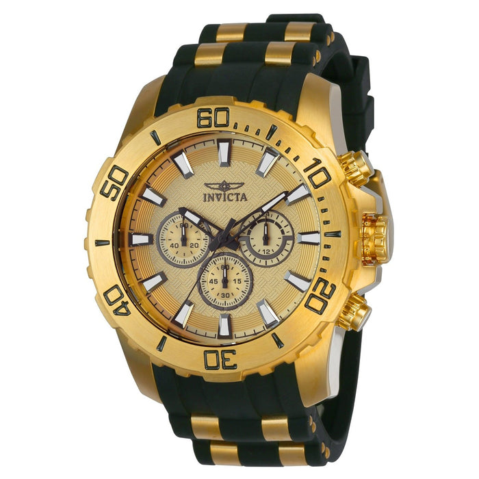 Invicta Men's 22558 Pro Diver Scuba Black and Gold-Tone Polyurethane and Stainless Steel Watch
