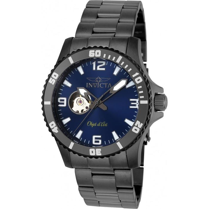 Invicta Men's 22626 Objet D Art Automatic Gunmetal Stainless Steel Watch