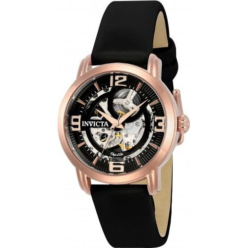 Invicta Women's 22656 Objet D Art Automatic Black Leather Watch
