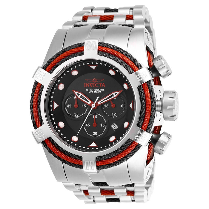 Invicta Men's 23049 Bolt Zeus Tria Silver and Red Inserts Stainless Steel Watch