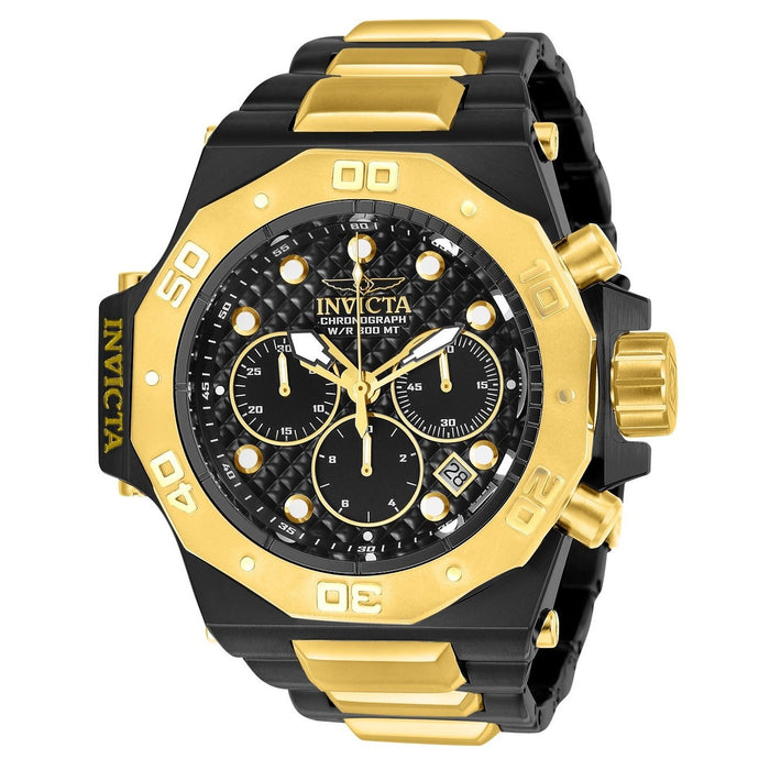 Invicta Men's 23100 Akula Reserve Black and Gold-Tone Stainless Steel Watch