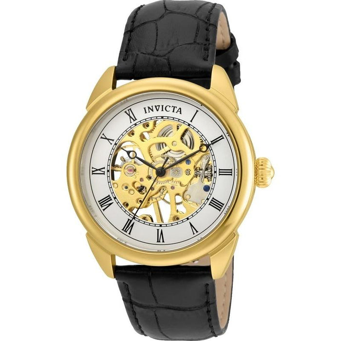 Invicta Men's 23535 Specialty Mechanical Black Leather Watch