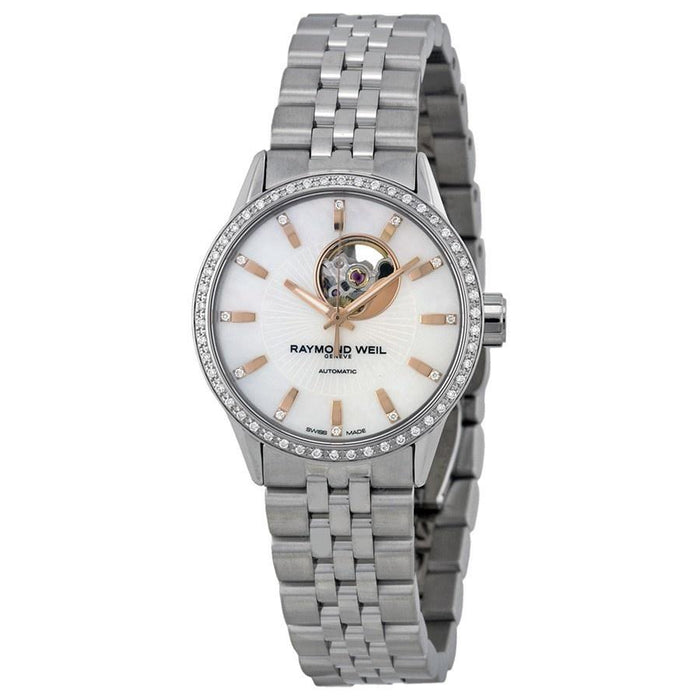Raymond Weil Women's 2410-STS-97981 Freelancer Diamond Automatic Stainless Steel Watch