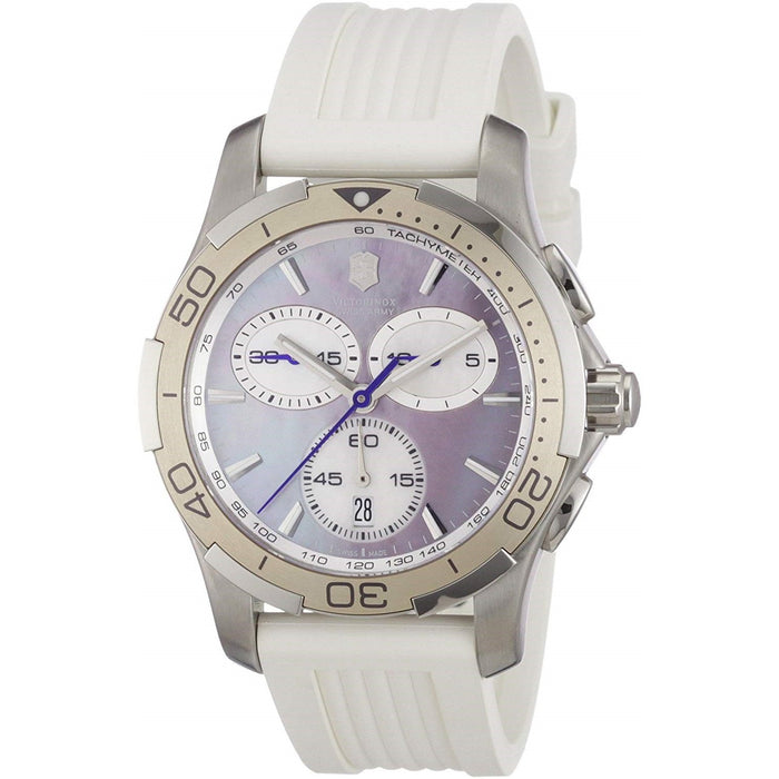 Victorinox Swiss Army Women's 241352 Alliance Sport Chronograph White Silicone Watch