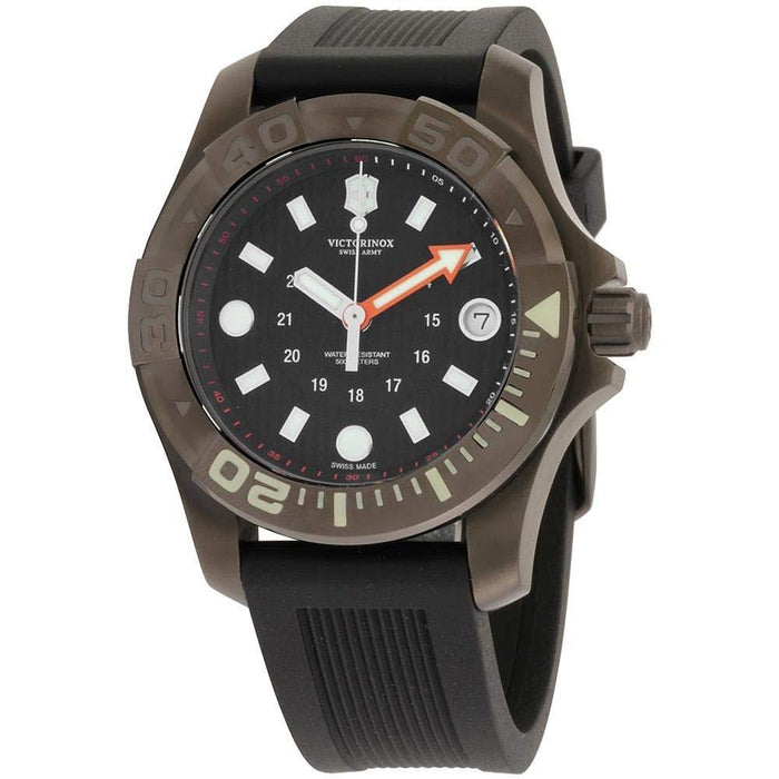 Victorinox Swiss Army Men's 2415551 Dive Master 500 Black Silicone Watch