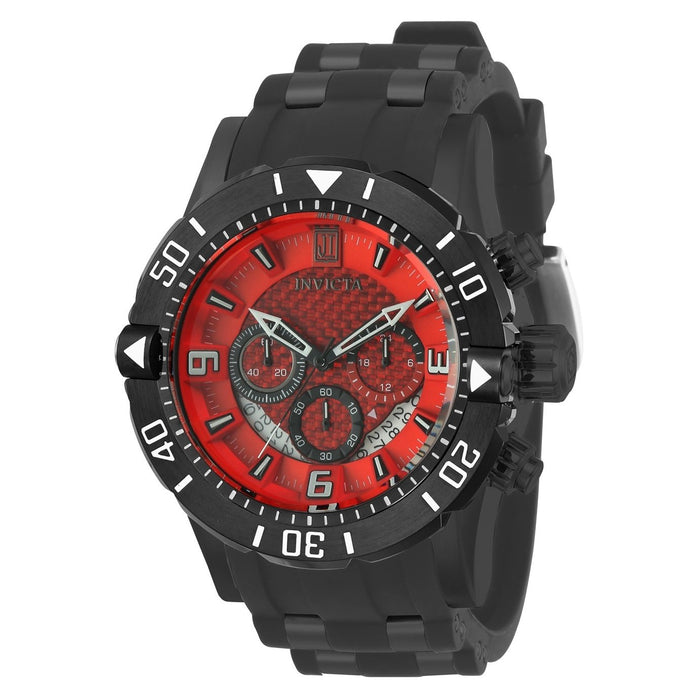 Invicta Men's 24170 Jason Taylor Black Polyurethane and Stainless Steel Watch