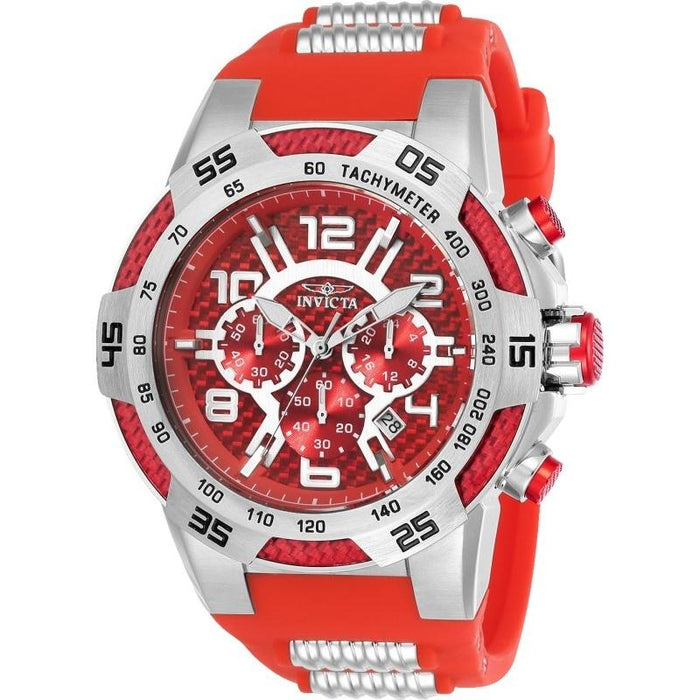 Invicta Men's 24230 Speedway Red and Silver Inserts Polyurethane and Stainless Steel Watch