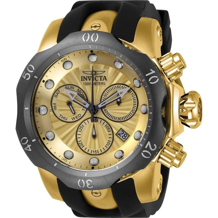 Invicta Men's 24258 Venom Black and Gold-Tone Polyurethane and Stainless Steel Watch