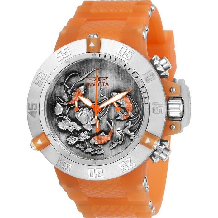 Invicta Men's 24356 Subaqua Anatomic Orange Silicone Watch