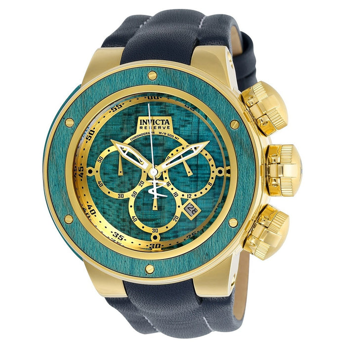 Invicta Men's 24436 Reserve Subaqua Sea Dragon Blue Leather Watch