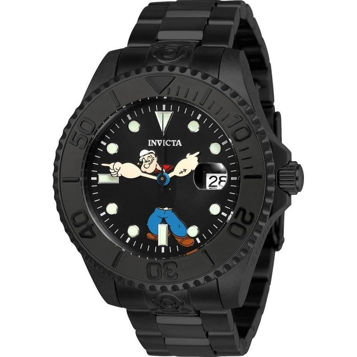 Invicta Men's 24471 Character Popeye Automatic Black Stainless Steel Watch