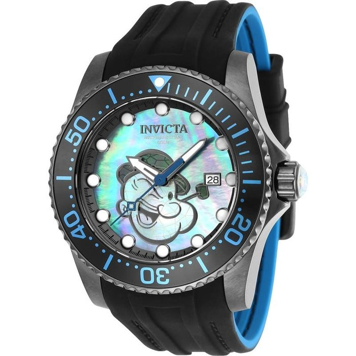 Invicta Men's 24475 Character Popeye Automatic Black Silicone Watch