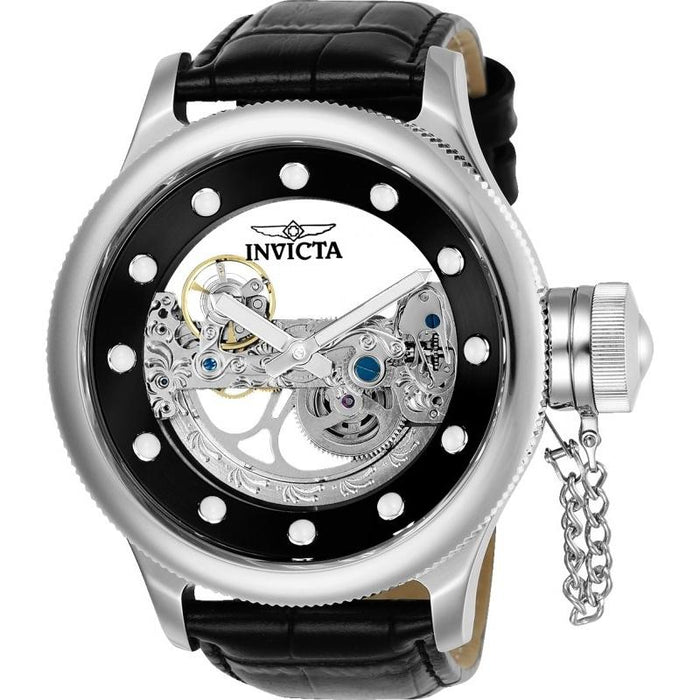 Invicta Men's 24593 Russian Diver Automatic Black Leather Watch
