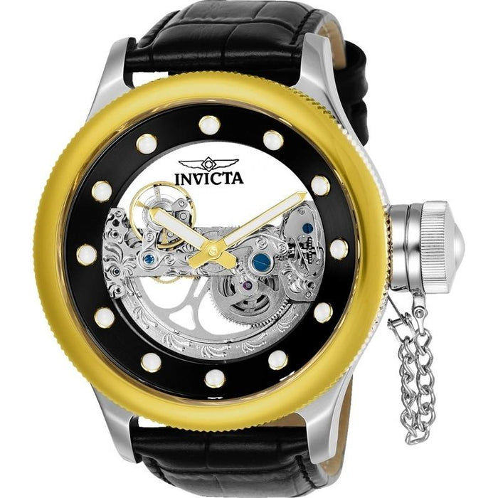 Invicta Men's 24594 Russian Diver Automatic Black Leather Watch