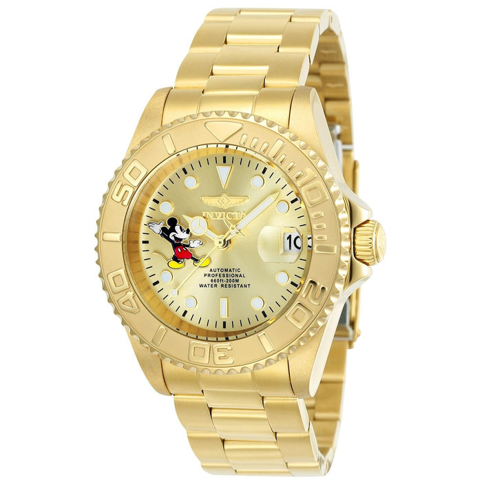 Invicta Men's 24756 Disney Mickey Mouse Automatic Gold-Tone Stainless Steel Watch