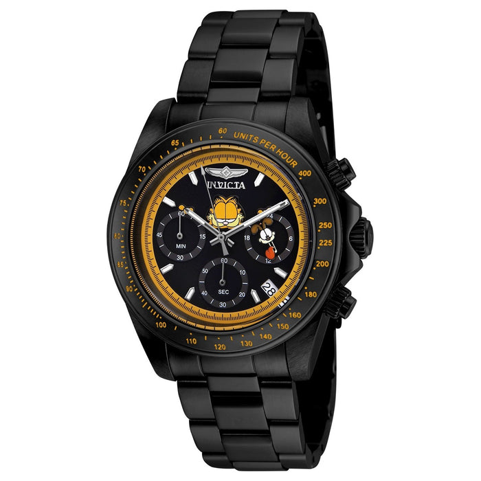 Invicta Men's 24891 Character Garfield Black Stainless Steel Watch