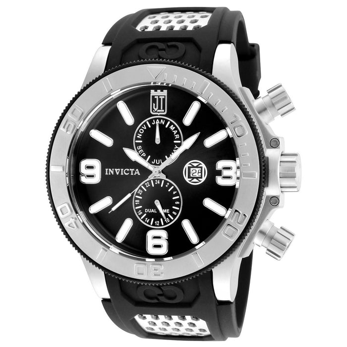 Invicta Men's 25186 Jason Taylor Black Polyurethane Watch