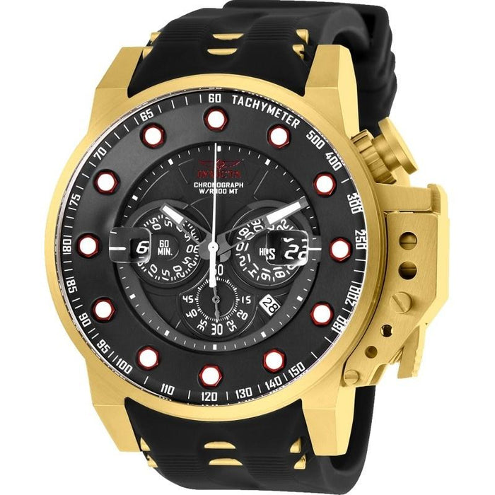 Invicta Men's 25272 I-Force Black and Gold-tone Polyurethane and Stainless Steel Watch