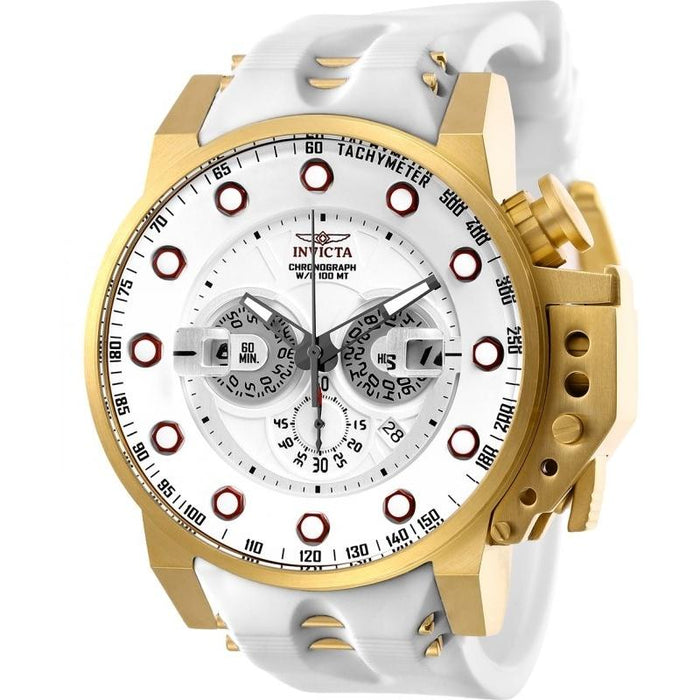 Invicta Men's 25274 I-Force White and Gold inserts Polyurethane and Stainless Steel Watch