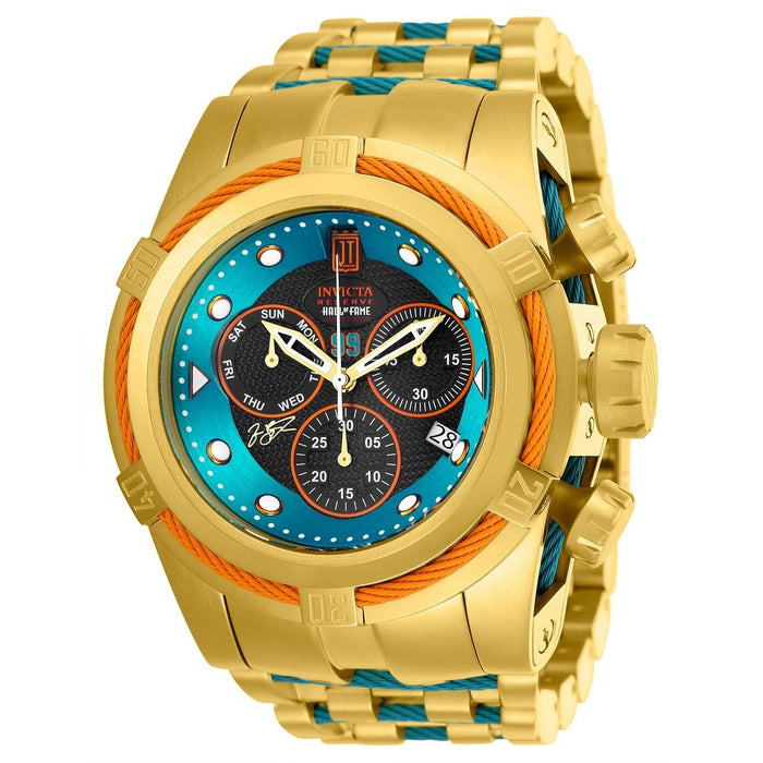 Invicta Men's 25308 Jason Taylor Excursion Gold-Tone and Blue Inserts Stainless Steel Watch