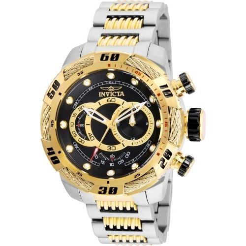 Invicta Men's 25481 Speedway Black and Gold-Tone Stainless Steel Watch