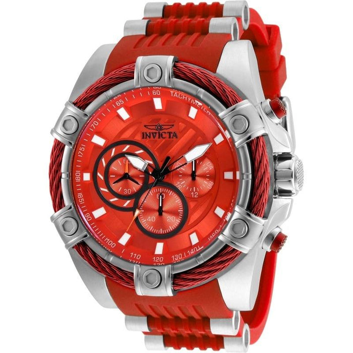 Invicta Men's 25525 Bolt Red Polyurethane and Stainless Steel Watch