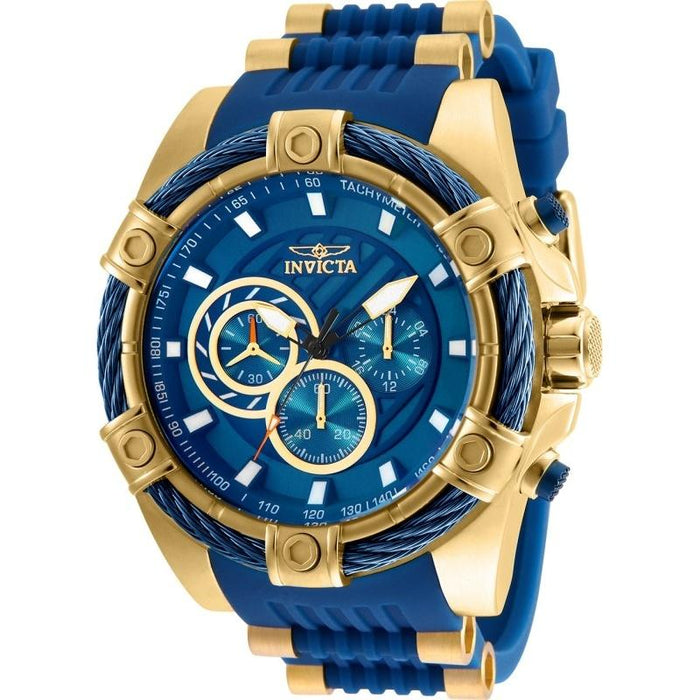 Invicta Men's 25527 Bolt Blue and Gold-Tone Polyurethane and Stainless Steel Watch