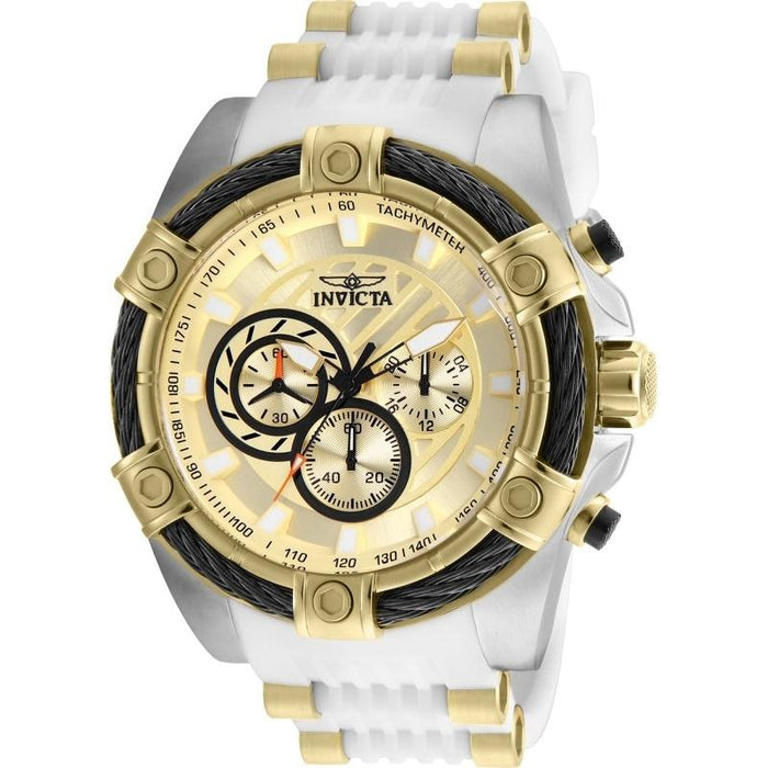 Invicta Men's 25528 Bolt White and Gold-Tone Inserts Polyurethane and Stainless Steel Watch