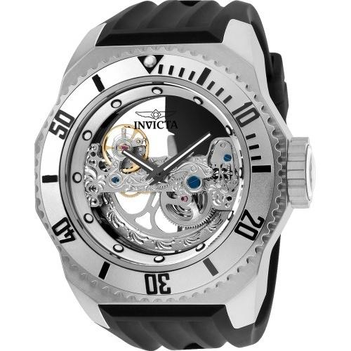 Invicta Men's 25611 Russian Diver Automatic Black Silicone Watch