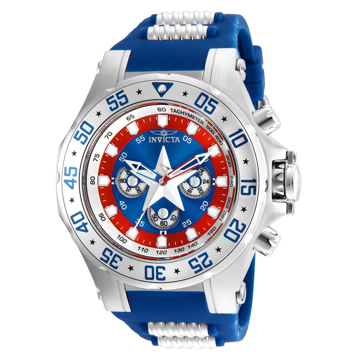 Invicta Men's 25685 Marvel Captain America Blue and Silver Stainless Steel Watch