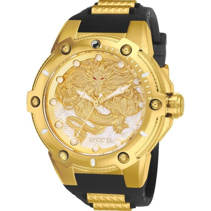 Invicta Men's 25777 Speedway Black and Gold-Tone Polyurethane and Stainless Steel Watch
