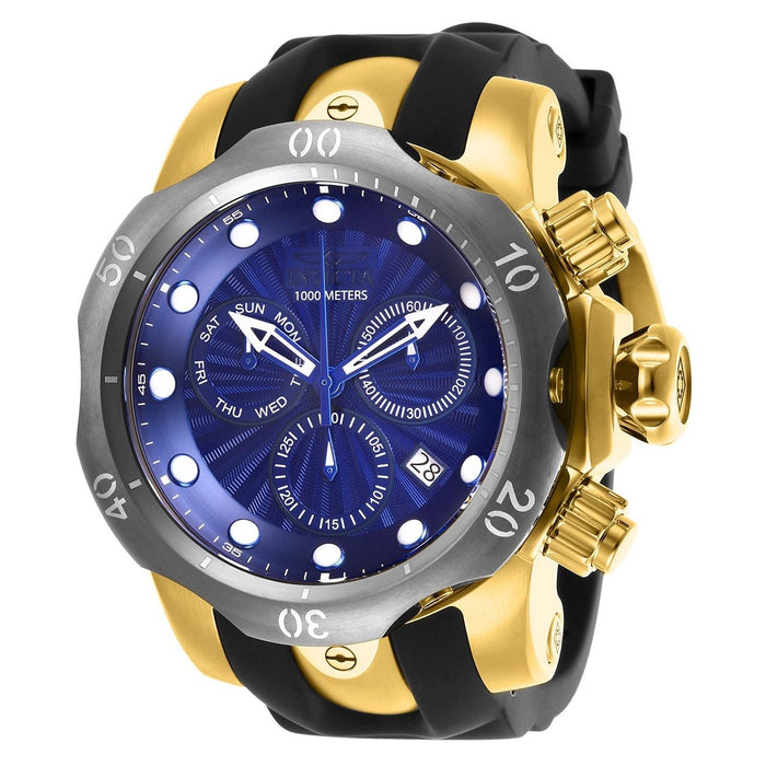 Invicta Men's 25899 Venom Reserve Black Polyurethane and Stainless Steel Watch