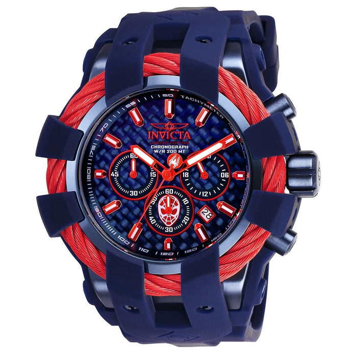 Invicta Men's 26008 Marvel Spiderman Blue Silicone Watch