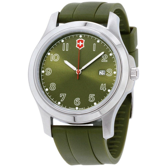Victorinox Swiss Army Men's 26069.CB Garrison Green Silicone Watch