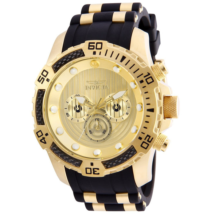 Invicta Men's 26179 Star Wars C-3PO Black and Gold-Tone Polyurethane and Stainless Steel Watch