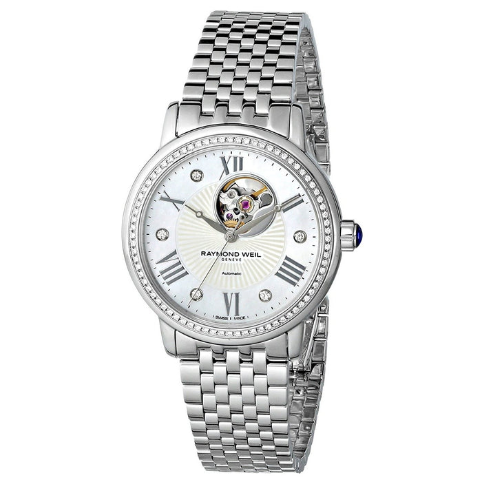 Raymond Weil Women's 2627-STS-00965 Maestro Automatic Diamond Stainless Steel Watch