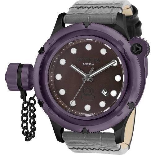 Invicta Men's 26424 Russian Diver Automatic Black Polyurethane and Stainless Steel Watch