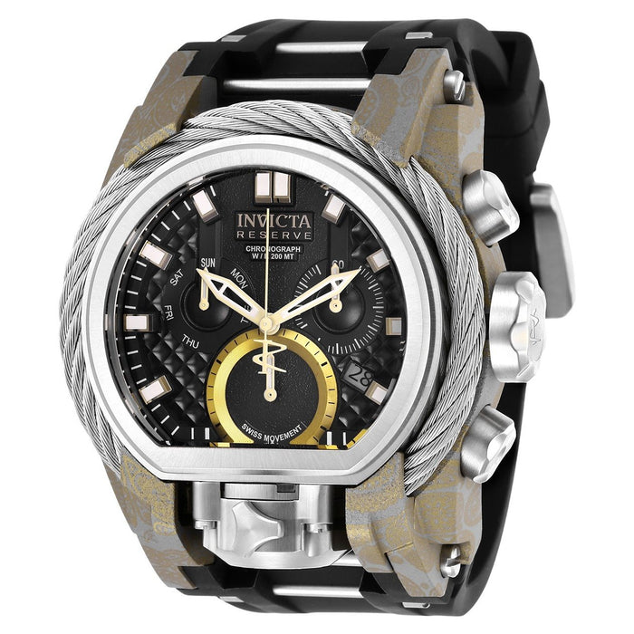 Invicta Men's 26442 Reserve Bolt Zeus Black and Silver Polyurethane and Stainless Steel Watch