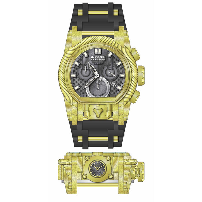 Invicta Men's 26447 Reserve Bolt Zeus Black and Gold-Tone Stainless Steel Watch