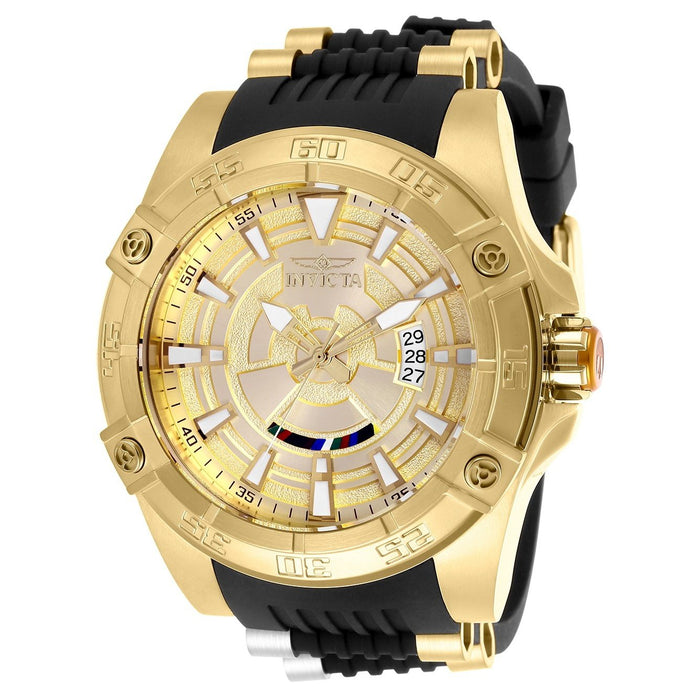 Invicta Men's 26521 Star Wars C-3PO Automatic Black and Gold-Tone Polyurethane and Stainless Steel Watch