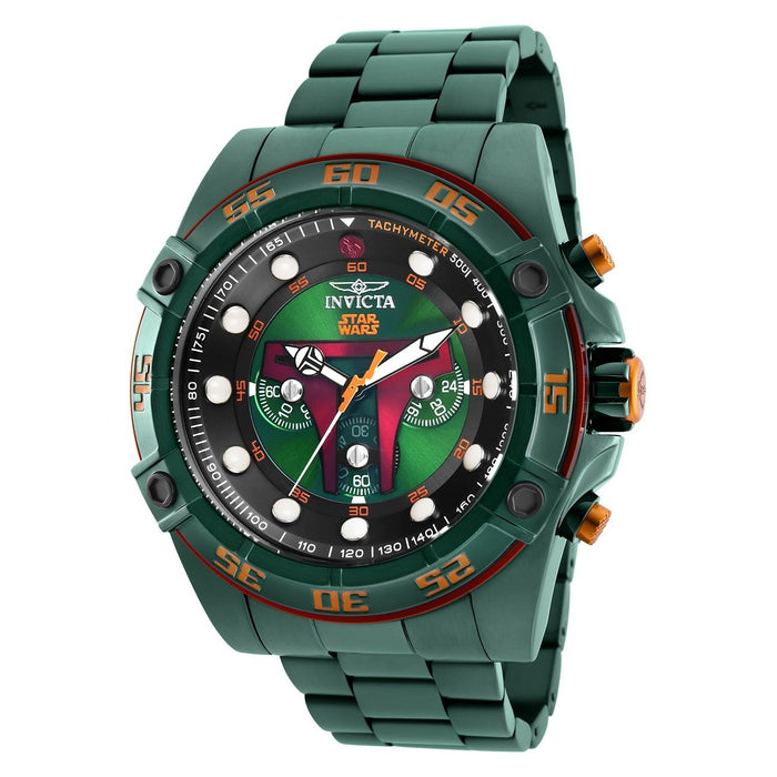 Invicta Men's 26544 Star Wars Boba Fett Green Polyurethane and Stainless Steel Watch