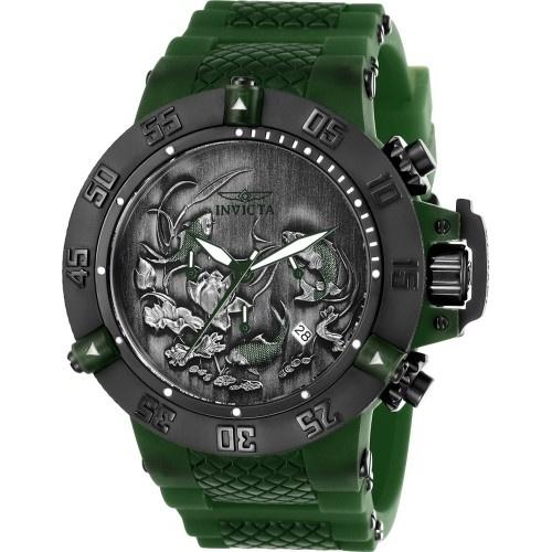 Invicta Men's 26563 Subaqua Anatomic Green Polyurethane and Stainless Steel Watch