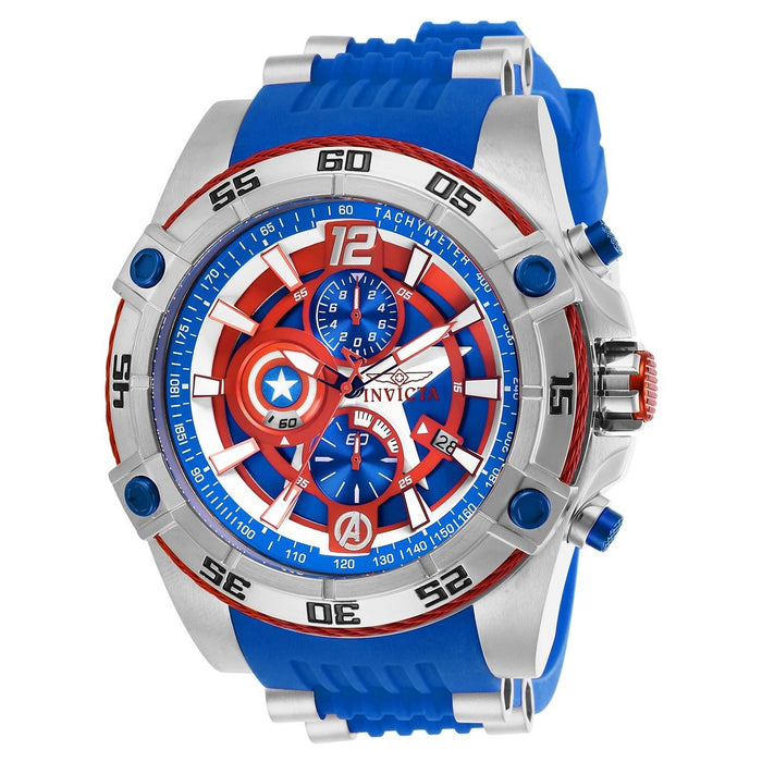 Invicta Men's 26780 Marvel Captain America Blue Stainless Steel Watch