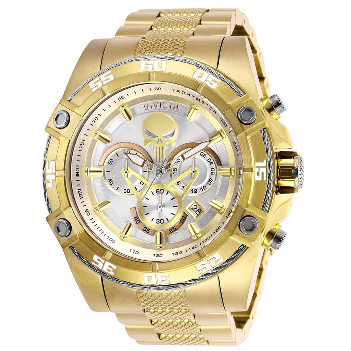 Invicta Men's 26864 Marvel Punisher Gold-Tone Stainless Steel Watch