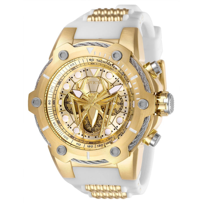 Invicta Men's 26916 Spiderman White and GLD Ins Silicone Watch