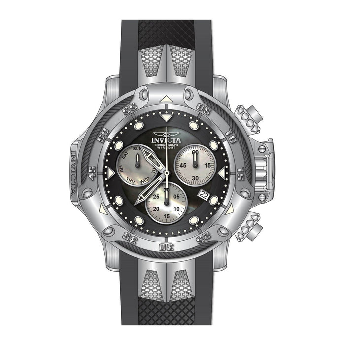 Invicta Men's 26960 Subaqua Black and Silver Polyurethane and Stainless Steel Watch