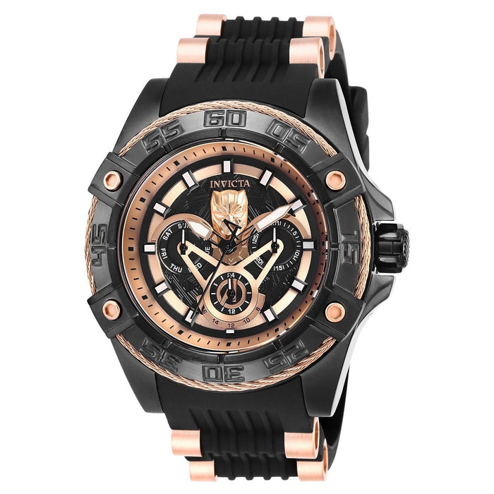 Invicta Men's 27031 Marvel Ironman Black and Rose-Tone Polyurethane and Stainless Steel Watch