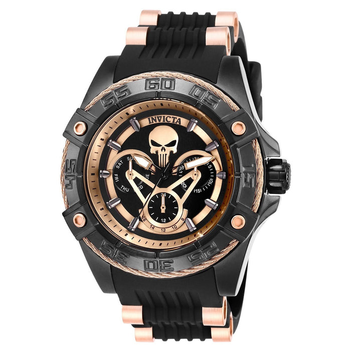 Invicta Men's 27035 Marvel Ironman Black and Rose-Tone Polyurethane and Stainless Steel Watch